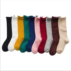Brand New Set of 10 Knee High Socks Size 1-3 Years